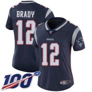 Women Patriots Tom Brady 100th Season Jerseys